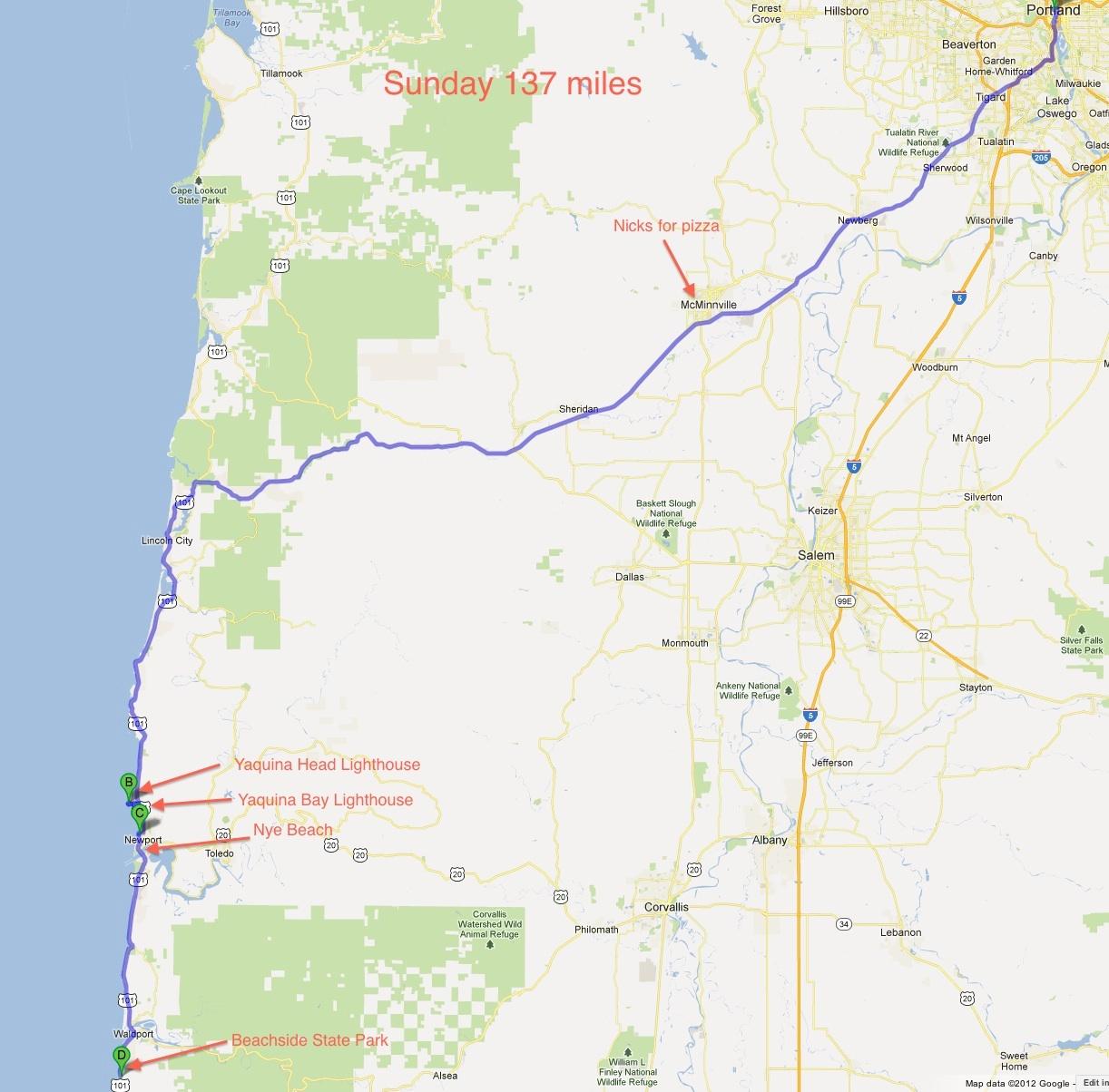 Lighthouses In Oregon Map.Lighthouses Of The Oregon Coast The Oregon California Coastal