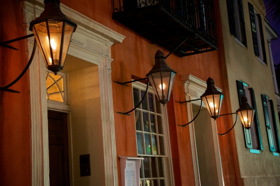Touring historic Charleston at night
