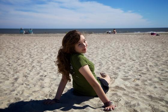Enjoying the beach at Tybee Island