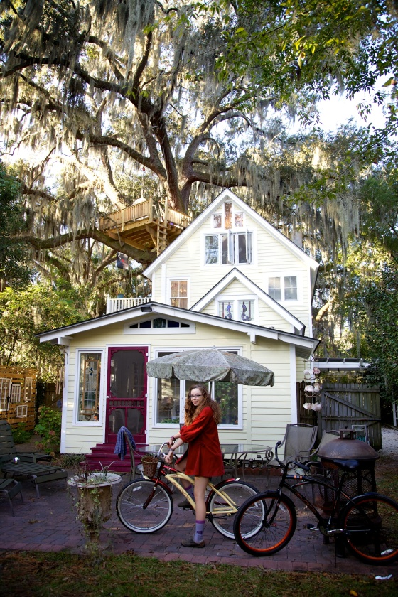 Our Airbnb in Savannah, complete with treehouse