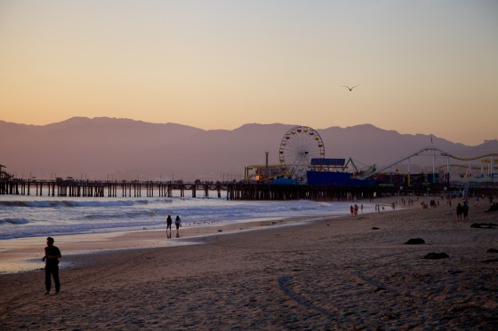 Santa Monica beach and pier