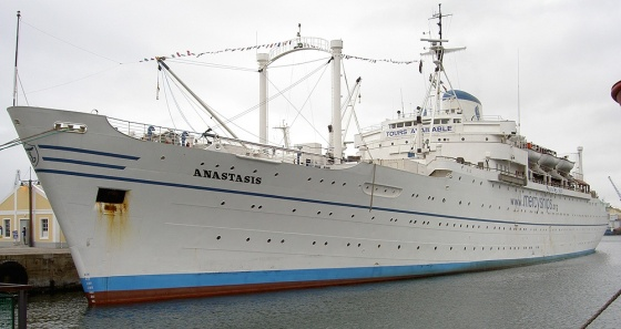 The Mercy Ship that my dad was the radio operator on.