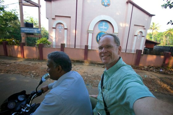 Touring the village of Pathanadu India, home of Kerala Baptist Bible College andSeminary