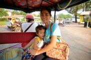 My tuk tuk drivers sweet family who came along to the airport to say goodbye.