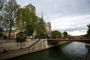 The Notre Dame overlooking The Seine