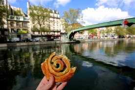 L'escargot chocolate pistachio from Du Pain et des Idees at the Canal Saint-Martin