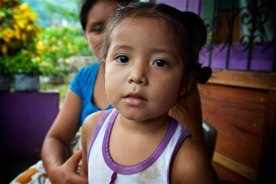 One of the many children that come to Pastor Mateo's house for food.