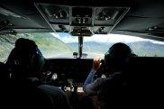 Amazing mountain pilots on take off