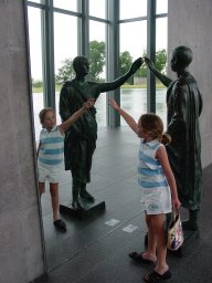 The modern art museum with my little artist!