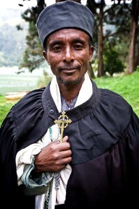 One of the kindest people I have ever met. An orthodox priest at a monastery on Wenche Island, Ethiopia