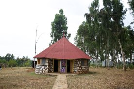 One the homes for children built at Kidmia traditionally designed to feel like home