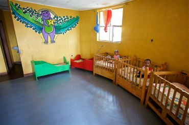 Inside home for children at Kidmia